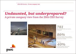 A private company view from the 20th CEO Survey