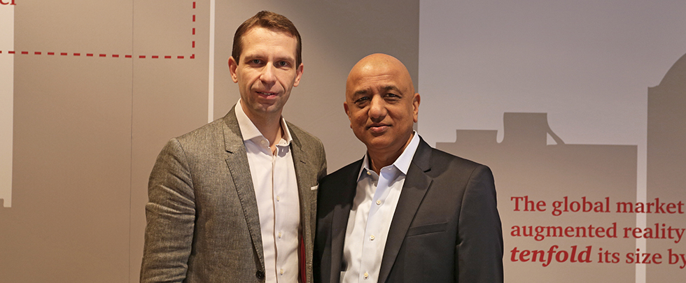 Mikko Nieminen ja Sunil Gupta lokakuussa 2017