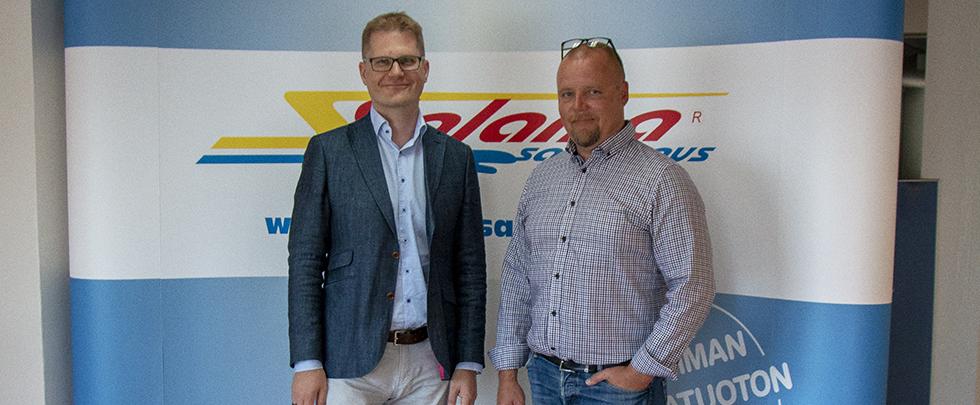 PwC:n Mikko Pirttilä ja Salamasaneerauksen Ilari Juhanmäki ovat tehneet yhteistyötä keväästä 2019 lähtien.